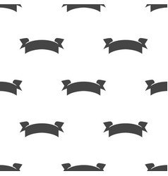 banner ribbon seamless pattern vector image