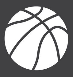 Basketball ball solid icon sport and game vector