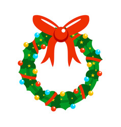 cartoon christmas fully decorated garland vector image