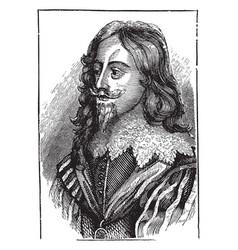 Charles i of england vintage vector