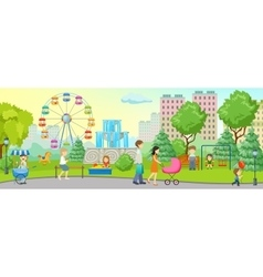 City Park Colored Concept vector image