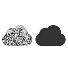 cloud collage of service tools vector image