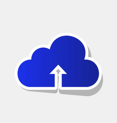 cloud technology sign new year bluish vector image