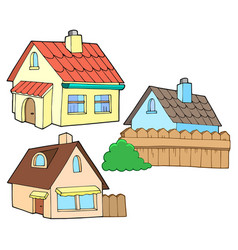 Collection of various houses vector