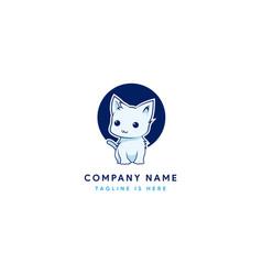 cute little cat logo vector image