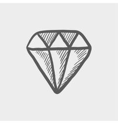 Diamond sketch icon vector image
