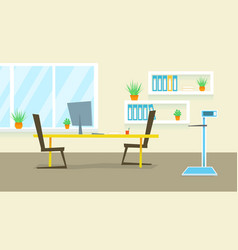 Doctor office medical clinic cabinet flat vector