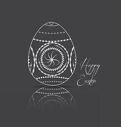 Easter egg on black background vector