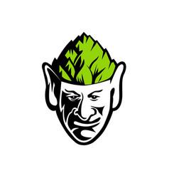 elf wearing hops hat mascot vector image