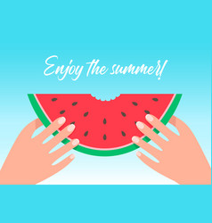 enjoy summer cartoon flat vector image