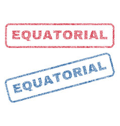 Equatorial textile stamps vector