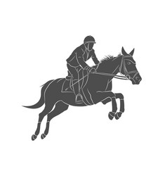 Equestrian sports horse jumping show jumping vector