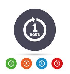 Every hour sign icon full rotation arrow vector