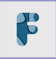 F water font template design vector