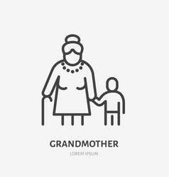 Family line icon pictogram grandmother vector