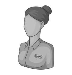 Female avatar icon gray monochrome style vector