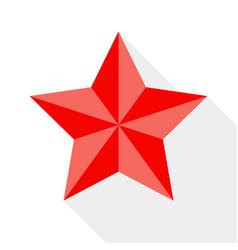 Flat style retro star icon vector