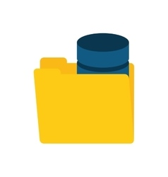 folder data server storage vector image