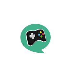 Game talk logo vector