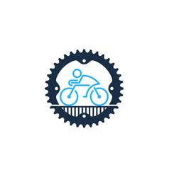 Gear bike logo icon design vector