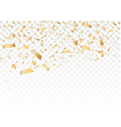 golden glitter confetti for decorative on holiday vector image