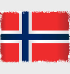 grunge flag of norway vector image