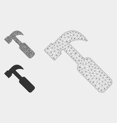 hammer mesh carcass model and triangle vector image