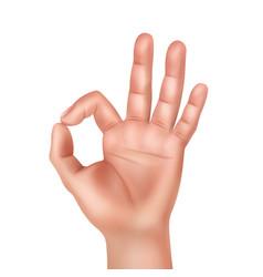 Hand showing okay vector