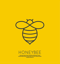 Icon honey bees vector