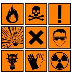 icons warning danger vector image