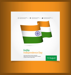 India independence day celebration template design vector