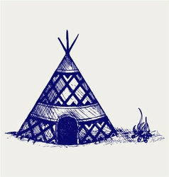 Indian tepee vector image vector image