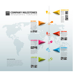 Infographic company history timeline template vector