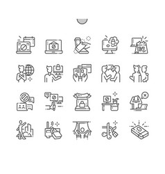 International internet-free day well-crafted pixel vector
