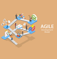 Isometric flat concept agile software vector