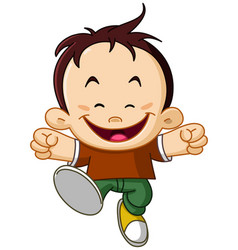 joyful kid vector image