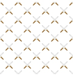 Knives pattern cartoon style vector image