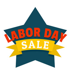 labor day logo icon flat style vector image
