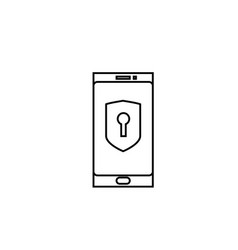 locked phone icon vector image