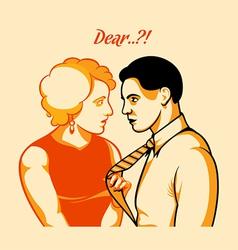 Love quarrel vector image