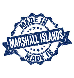 made in marshall islands round seal vector image