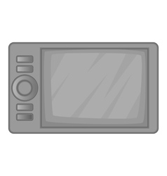 Microwave oven icon gray monochrome style vector