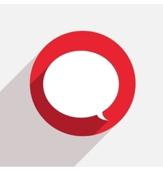 Modern bubble speech red circle icon vector
