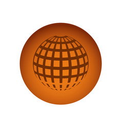 orange emblem global planet icon vector image