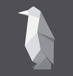 origami penguin concept background realistic vector image