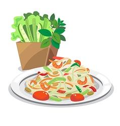 papaya salad1 vector image