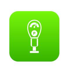 parking meters icon digital green vector image
