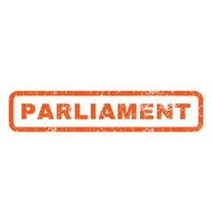 Parliament Rubber Stamp vector image