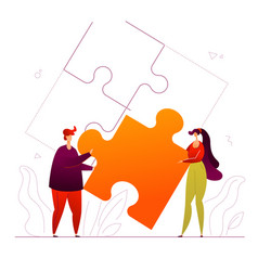partnership - modern flat design style colorful vector image