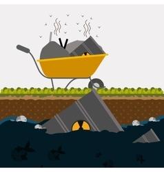 Pollution design vector image